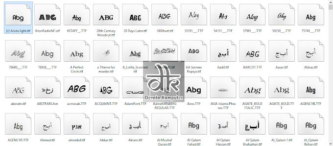 Download 1000+ Font Gratis Untuk PC