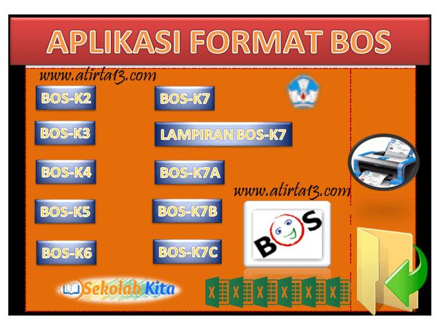 Aplikasi Format  BOS K2 K3 K4 K5 K6 K7 K7A K7B K7C Lengkap