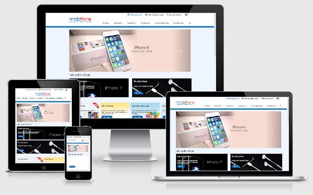Thiết kế blog giới thiệu mobifone hoàng kim