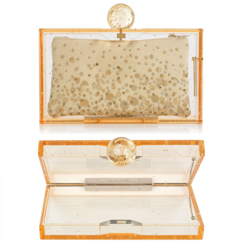 champagne inspired clutch