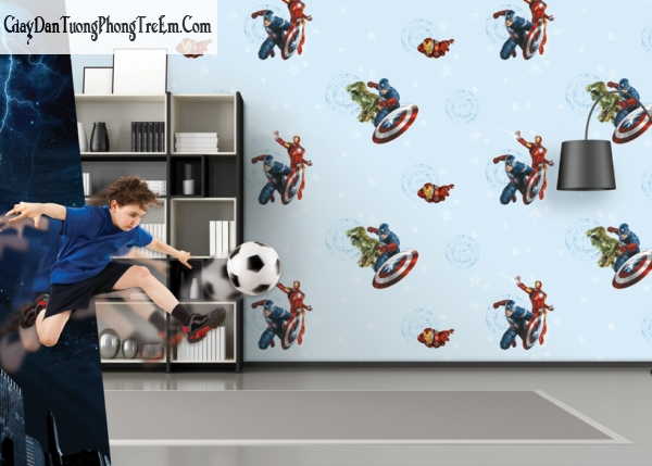 Chọn giấy dán tường cho phòng bé trai