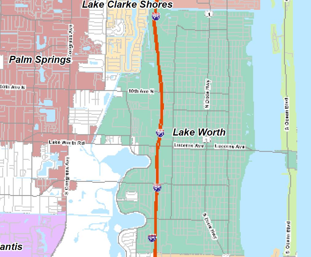 Map Of Delray Beach City Limits