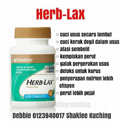 Manfaat Herb-Lax Shaklee