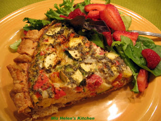 Summer Squash Quiche Miz Helen's Country Cottage.com