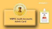 WBPSC Audit Accounts Admit Card
