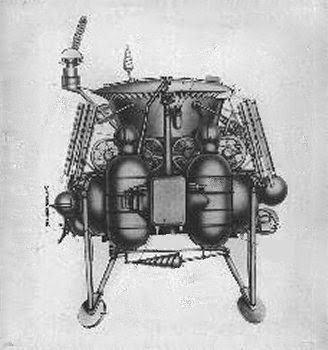 Il rover Lunochod e il suo modulo di allunaggio.