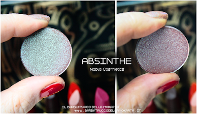 ABSINTHE  review eyeshadow ombretto  goldust collection Nabla cosmetics