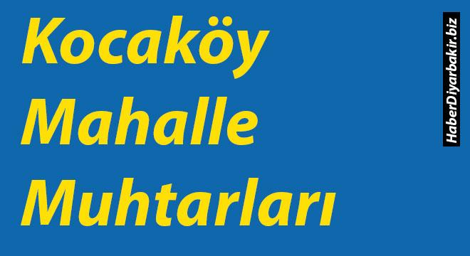 Diyarbakır Kocaköy Mahalle Muhtarları