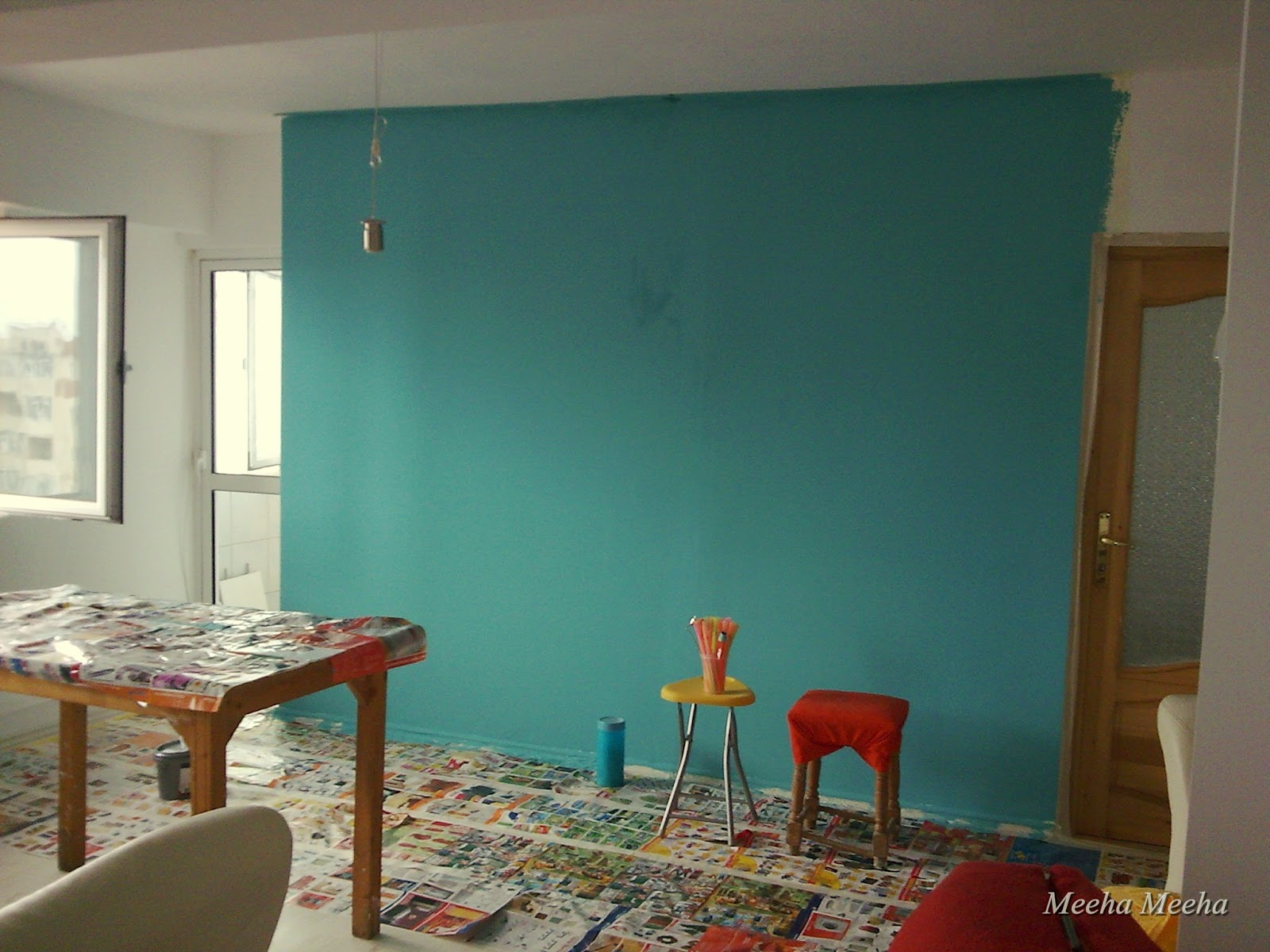 Meeha Meeha: Before and after: Turquoise living room