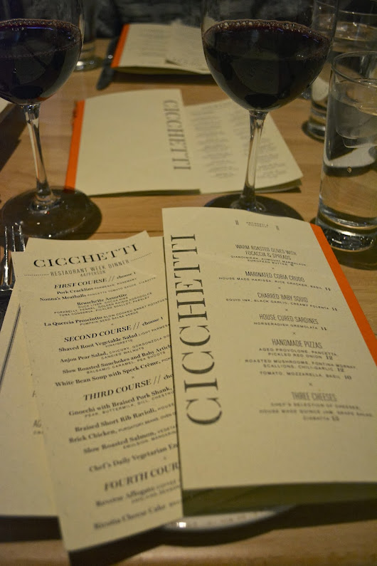 Restaurant Week at Cicchetti!