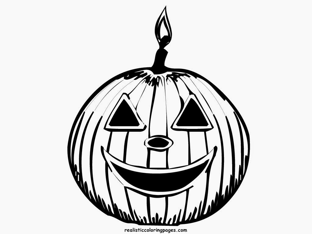 Halloween Pumpkin Coloring Pages | Realistic Coloring Pages