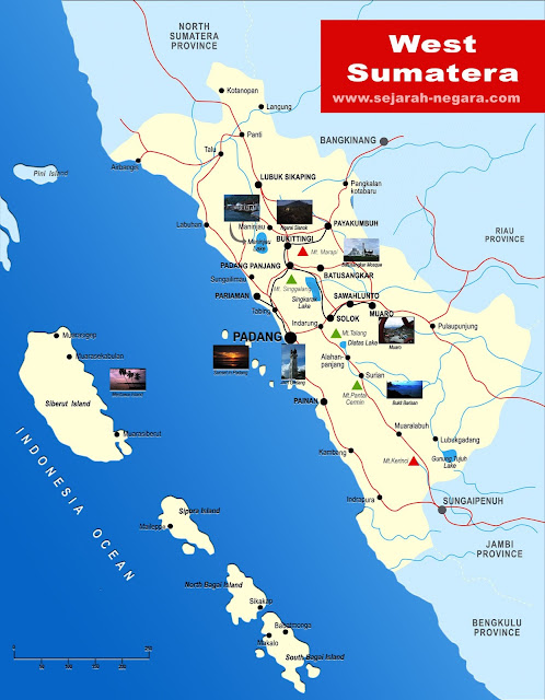 image: West Sumatera Map High Resolution