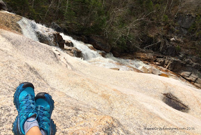 thoreau falls, hiking, mountain runners