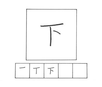 kanji bawah