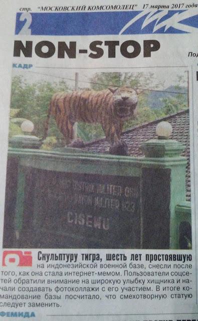 Majalah Koran Russia Macan Senyum