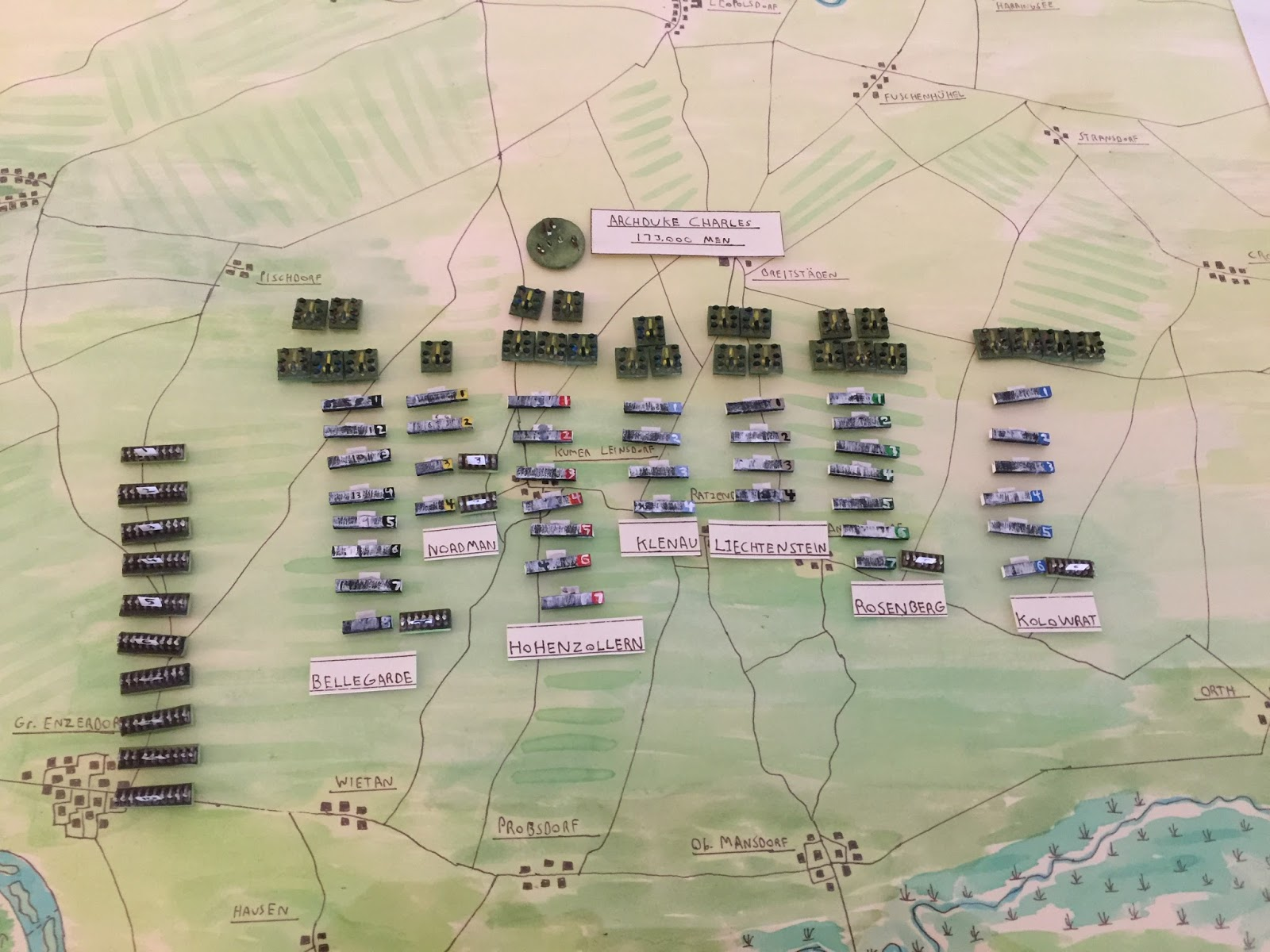 after making sure everything was there an important step i held my breath and began adding them to the map according to the grande armee scenario
