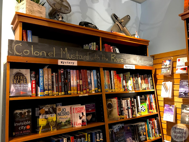 RiverRun Bookstore in Portsmouth, New Hampshire mystery section