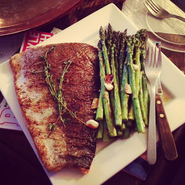 Eating Fabulously, Christopher Stewart, Roasted Salmon and Asparagus