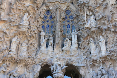 Detail of Sagrada Familia Basilica in Barcelona