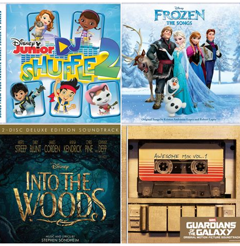 Frozen, Into the Woods, Guardians of the Galaxy, Disney Jr. DJ shuffle 2
