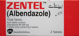 Zentel 200mg Tablet