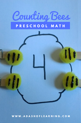 Counting Bees: Preschool Math