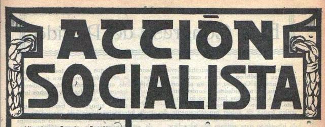 Cabecera del semanario Acción Socialista