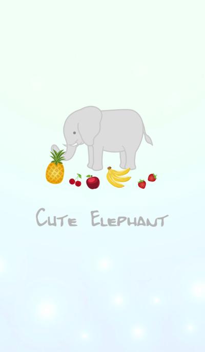 大象愛吃水果