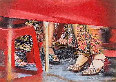 Karya yang mempersembahkan budaya Peranakan melalui perspektif yang luar biasa dengan menjemput penonton untuk menyaksikan perbualan intim antara tiga wanita Nyonya