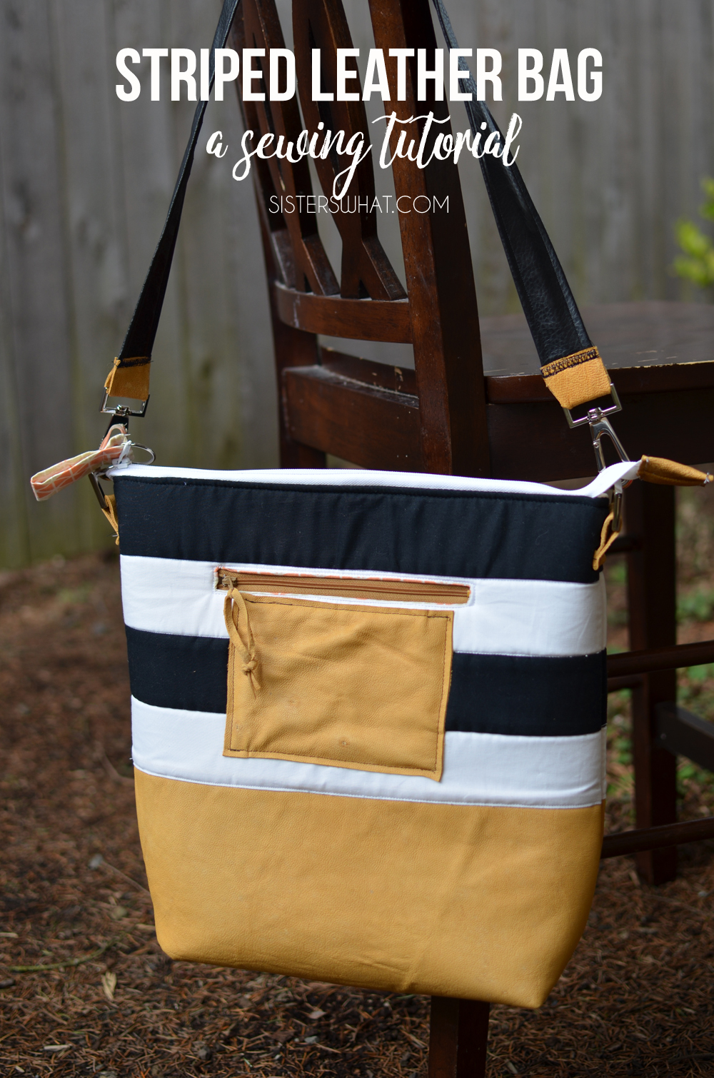 The perfect go to bag for travel or diapers or adventure; made out of leather. An easy sewing tutorial