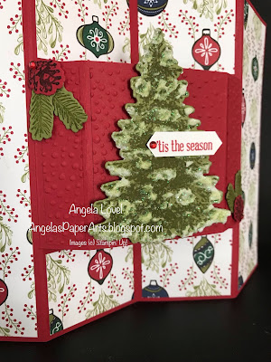Stampin' Up! Winter Woods card by Angela Lovel, Angela's PaperArts