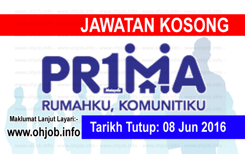 Jawatan Kerja Kosong Perbadanan Pr1ma Malaysia logo www.ohjob.info jun 2016