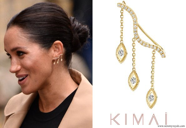 Meghan accessorised with Kimai Felicity earrings
