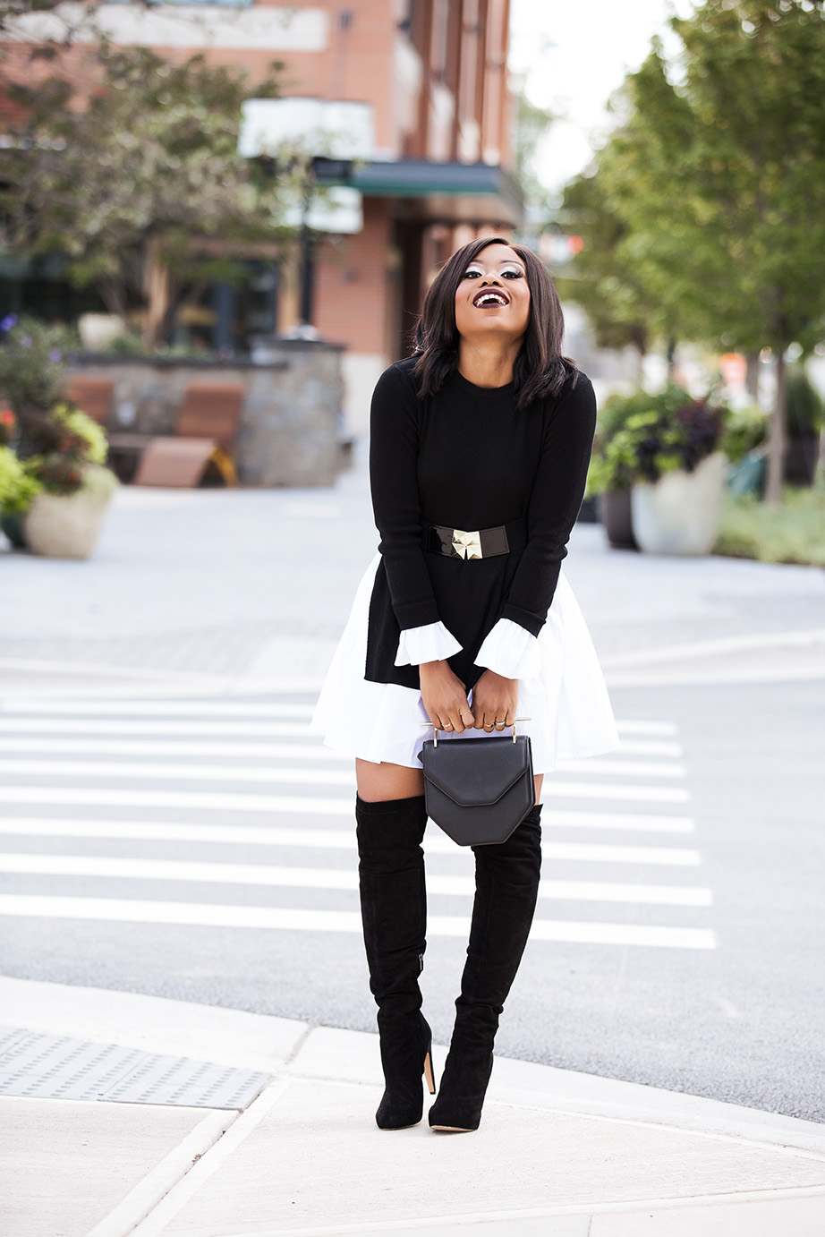 black and white combo for fall, www.jadore-fashion.com