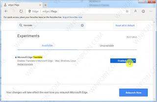 Cara Mengaktifkan Translate/Terjemahan di Browser Microsoft Edge Chromium