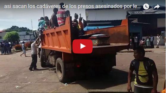 Los 37 presos asesinados fueron trasladados como si fueran basura podrida