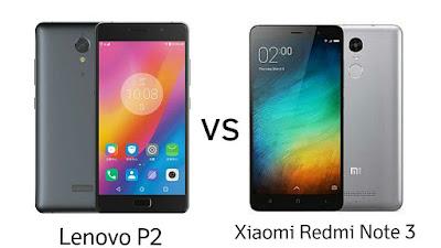 Lenovo P2 vs Xiaomi Redmi Note 3