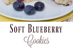 SOFT BLUEBERRY COOKIES WITH LEMON GLAZE
