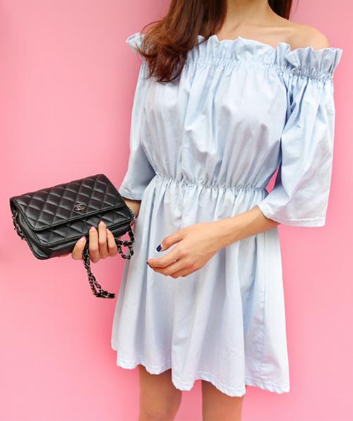 [11Street] Off-Shoulder Flared Dress