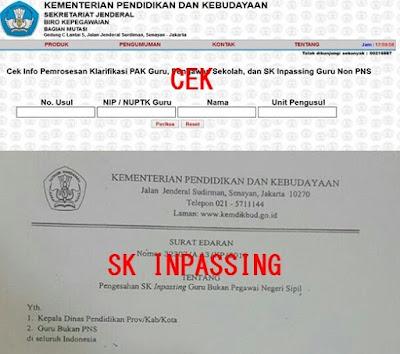 Cara Mudah Cek Online SK Inpassing Guru Bukan PNS 2018