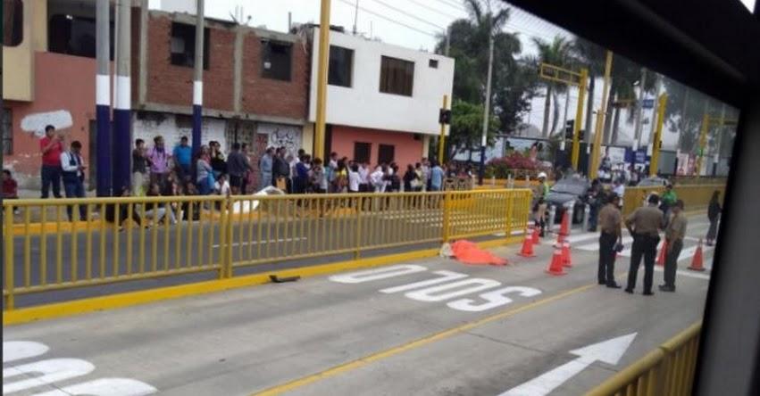 Camioneta del Metropolitano atropella a postulante de Escuela Militar de Chorrillos