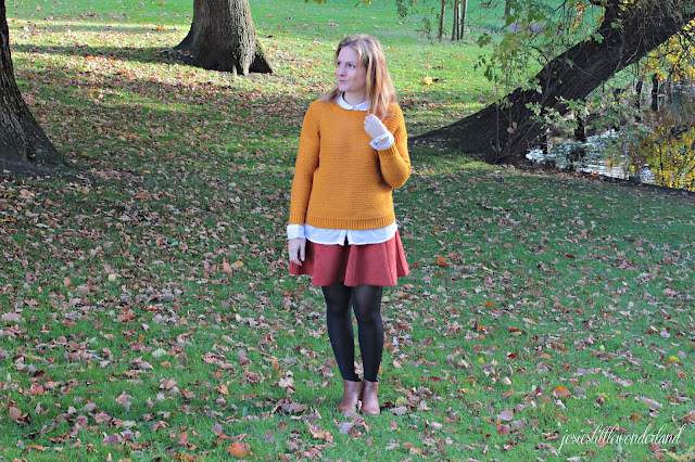 josie´s little wonderland, outfit, fashion, orange, rock, glockenrock, strickpulli, knitwear, autumcolors