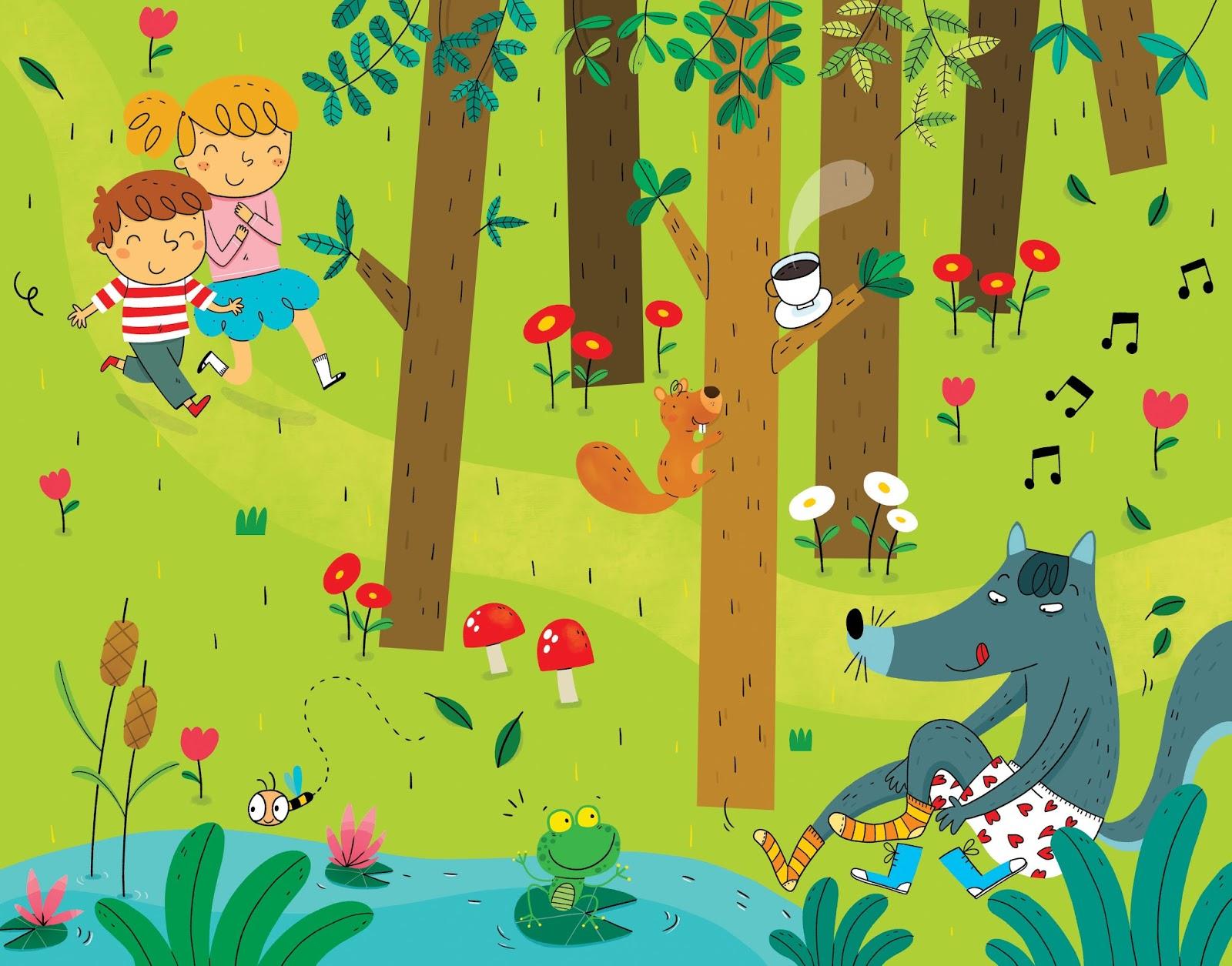 Promenons nous dans les bois de Chansons enfantines Paroles de