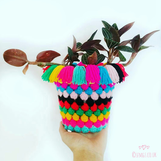 Plant Pot Cozy in Simply Crochet Mag | Free Crochet Pattern