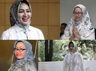 Contoh Model Jilbab Segi Empat Mewah Seperti Ibu Pejabat