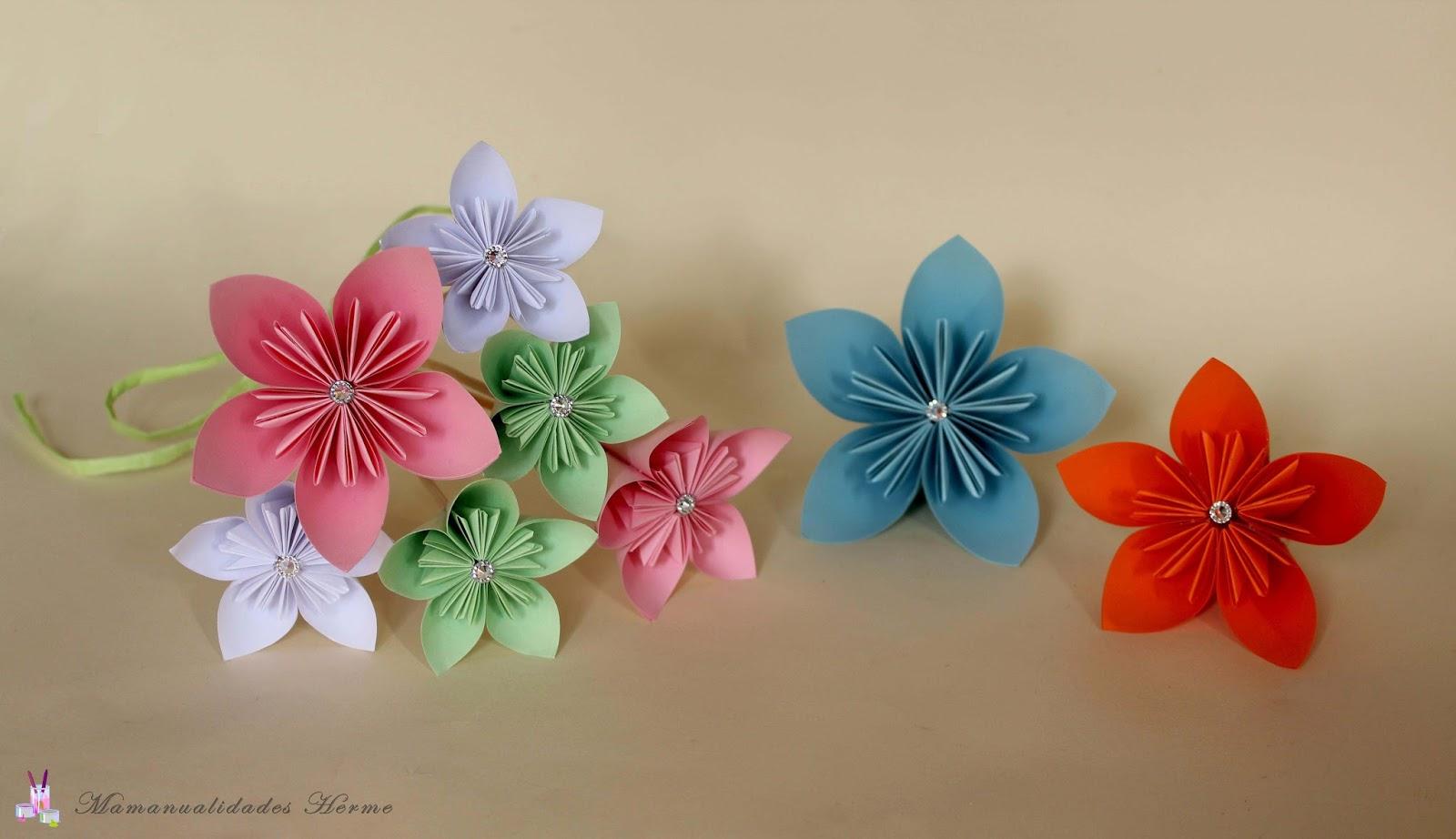 Manualidades herme como hacer flores kusudama - Ver como hacer manualidades ...