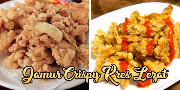 Bikin Camilan Jamur Crispy Kres Lezat
