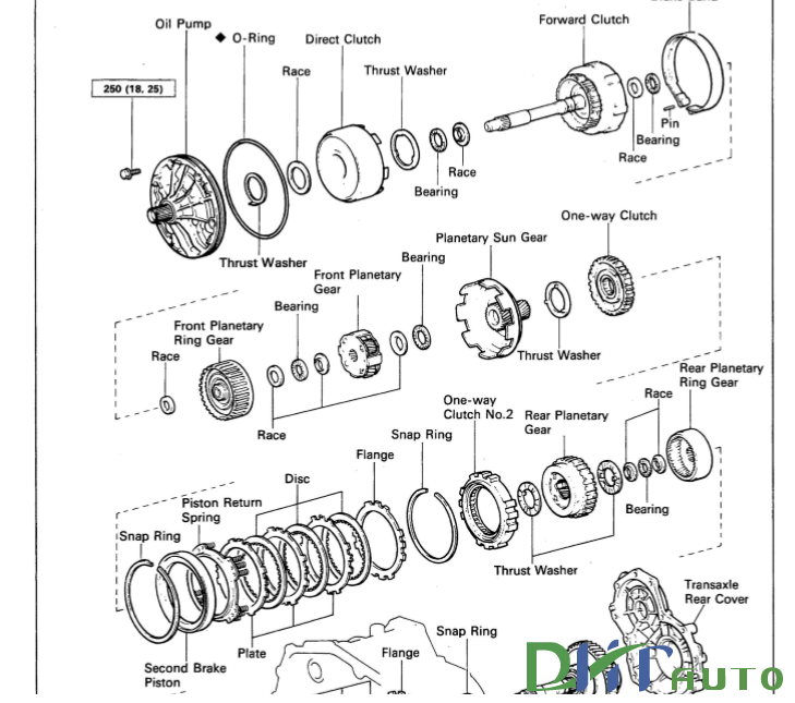 TOYOTA AUTOMATIC TRANSAXLE A241E SERVICE REPAIR MANUALS