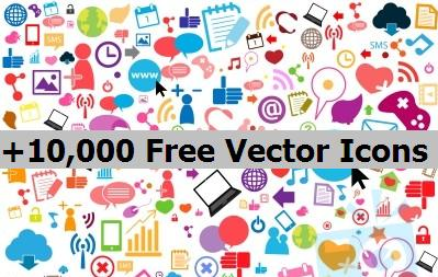 +10,000 Free Vector Icons to Download and Use in Your Projects