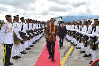 Presiden Tiba Di Kuching Hadiri Konsultasi Tahunan RI-Malaysia